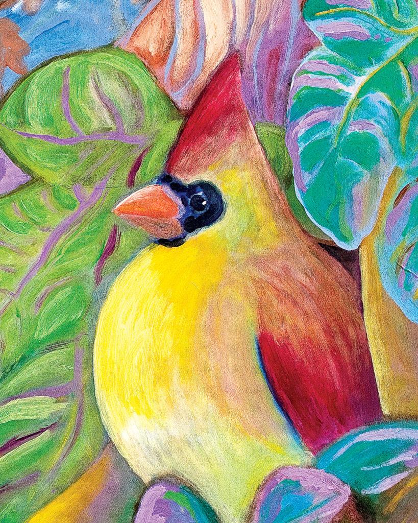 Painting of a cardinal