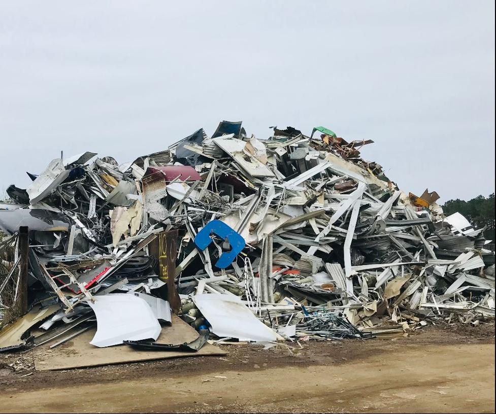 photo of scrap metal pile