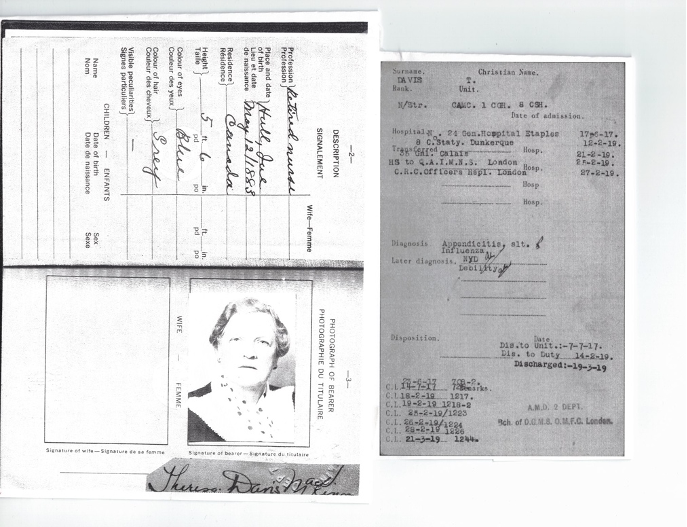 Theresa Davis military ID and discharge papers